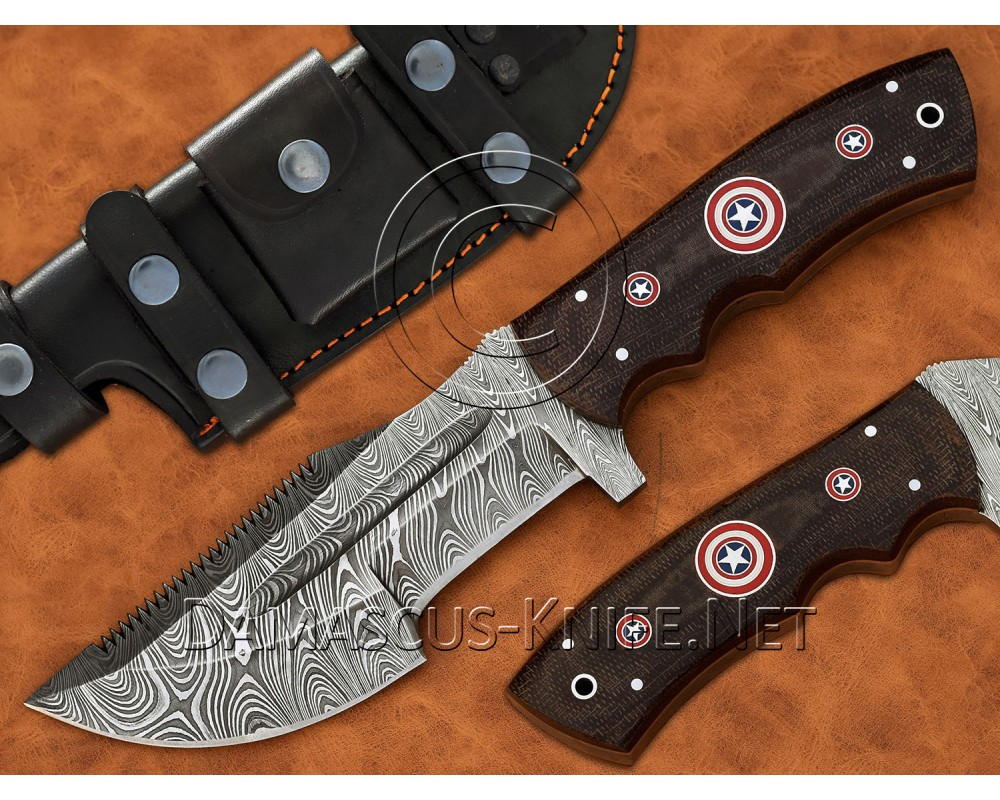 Tom Brown Full Tang Handmade Damascus Steel Tracker Knife DTK1053