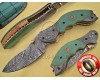 Handmade Damascus Steel Collectible Folding Knife DFK768