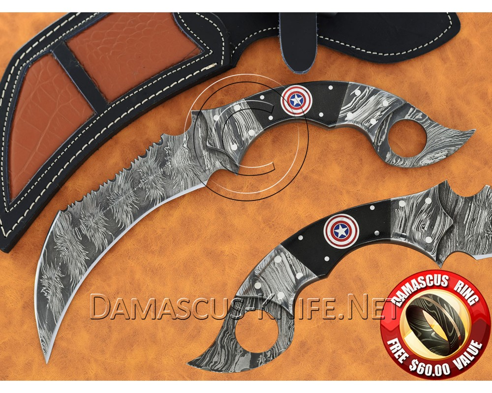 Handmade Damascus Steel Collectible Hunting Knife DHK820