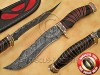 Handmade Damascus Steel Collectible Hunting Knife Horn Handle DHK887