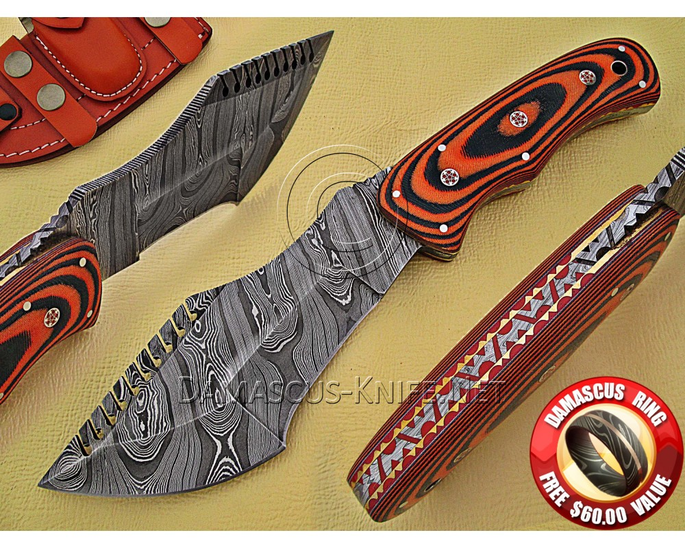 Tom Brown Full Tang Handmade Damascus Steel Tracker Knife DTK926