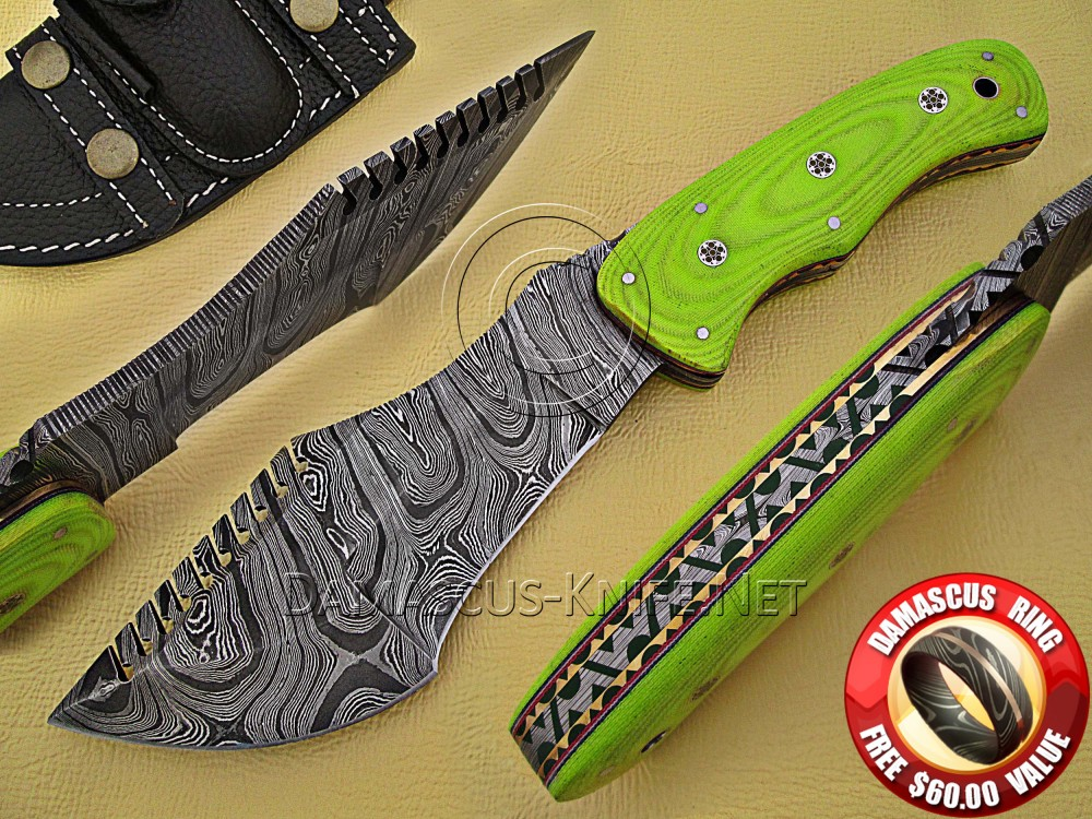 Tom Brown Full Tang Handmade Damascus Steel Tracker Knife DTK927
